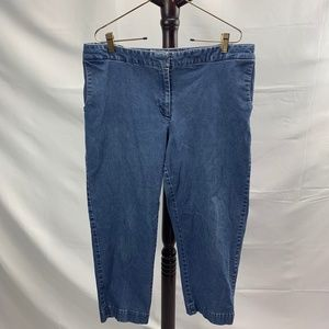 J. Jill Stretch Blue Jean Capris Genuine Fit